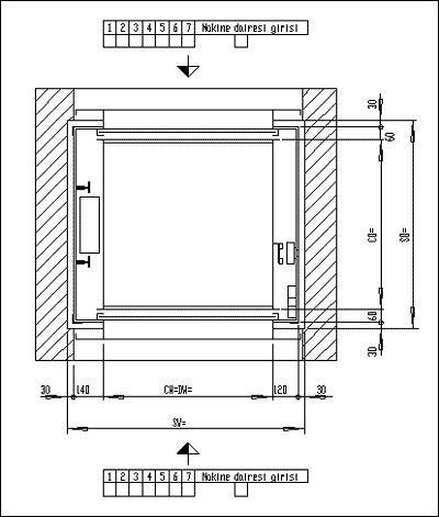 Monşarj asansör ölçüleri