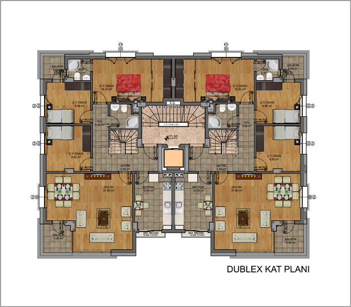 Dublex Floor Plan