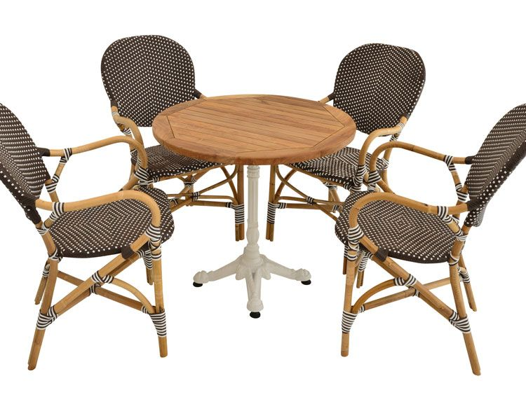 Raw Rattan Ferman Chair Teak Table1