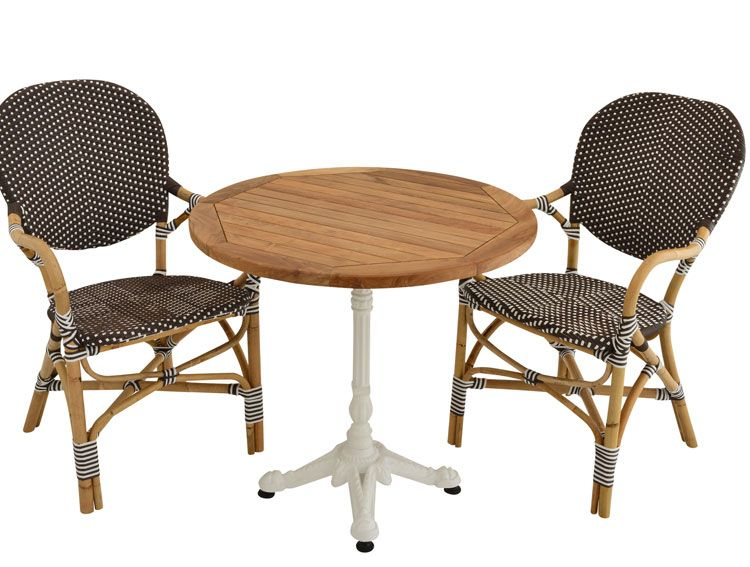 Raw Rattan Ferman Chair Teak Table 2