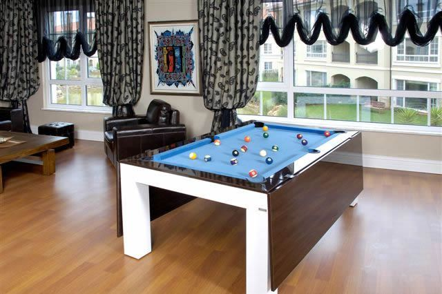 Metaliz Elm Dining Pool Tables2