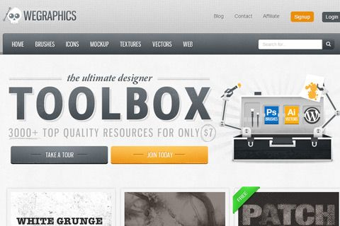 wegraphics free brushes homepage