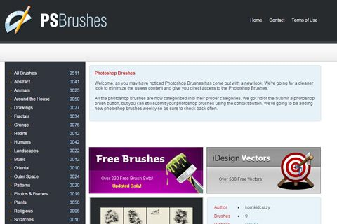 ps photoshop brushes gallery