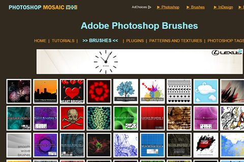 photoshop mosaic brushes collection