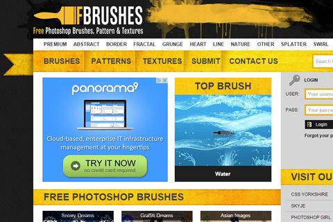 free brushes photoshop website