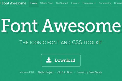 font awesome free iconset