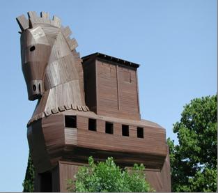 trojanisches pferd in bodrum